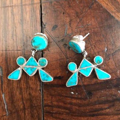 Fabulous Blue Gem Earrings