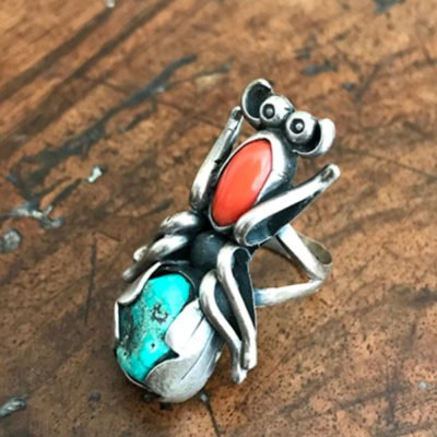 Navajo Vintage Bug Ring