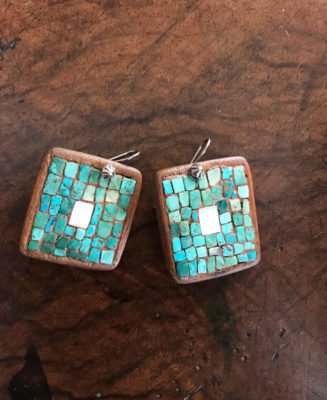 Hopi Cotton Wood Earrings