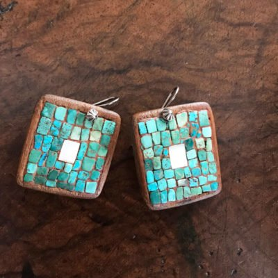 Hopi Cotton Wood Earrings