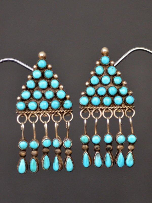 Beautiful Navajo Turquoise Earrings