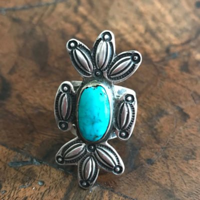 Circa 1910-Navajo Button Ring