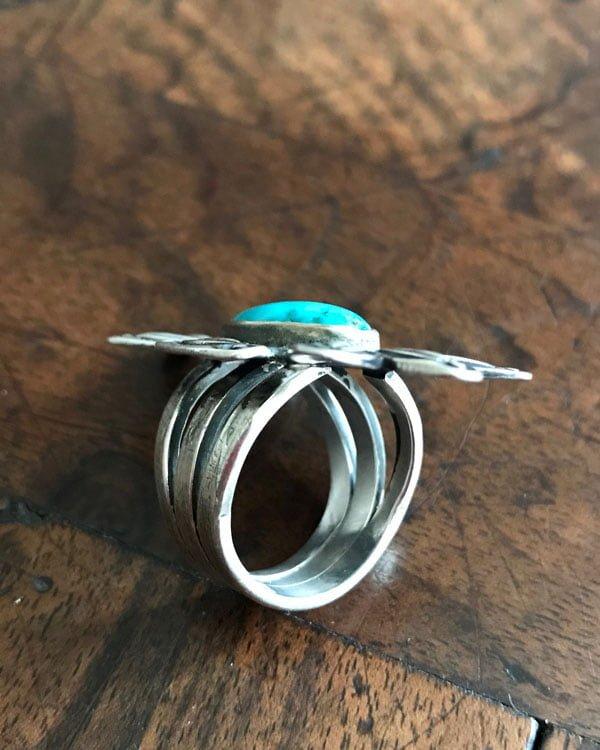 Circa 1910-Navajo Button Ring
