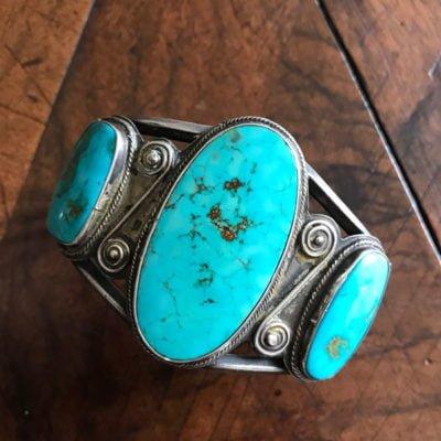 Fabulous Navajo Oval Turquoise Bracelet