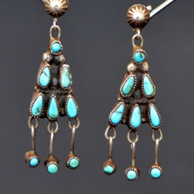 Dainty Turquoise Earrings c-1940's