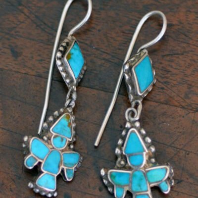 Turquoise Knifewing Earrings c.1930's