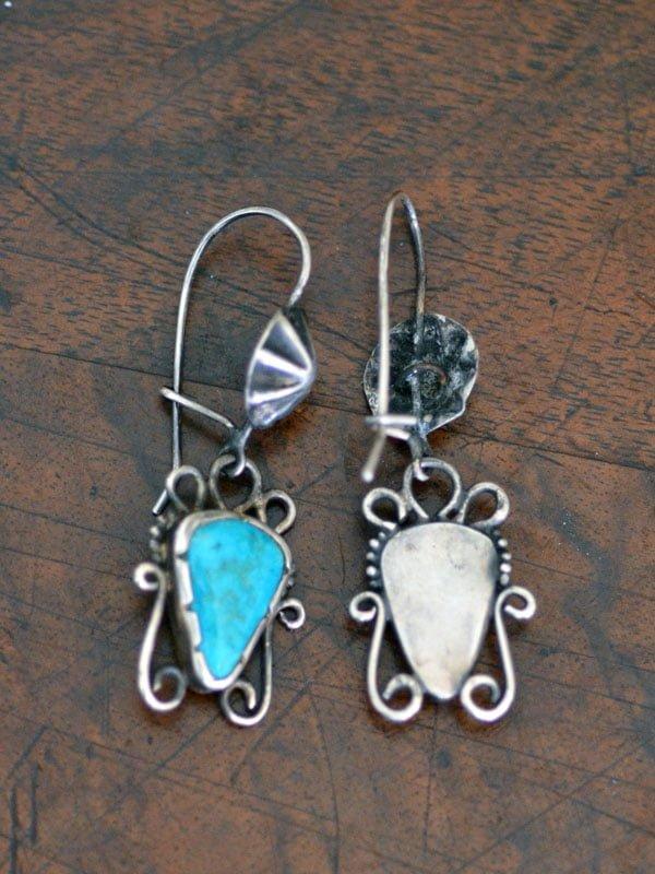 Circa 1930's Navajo Turquoise Earrings