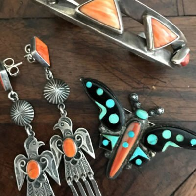Harry H Begay Thunderbird Earrings