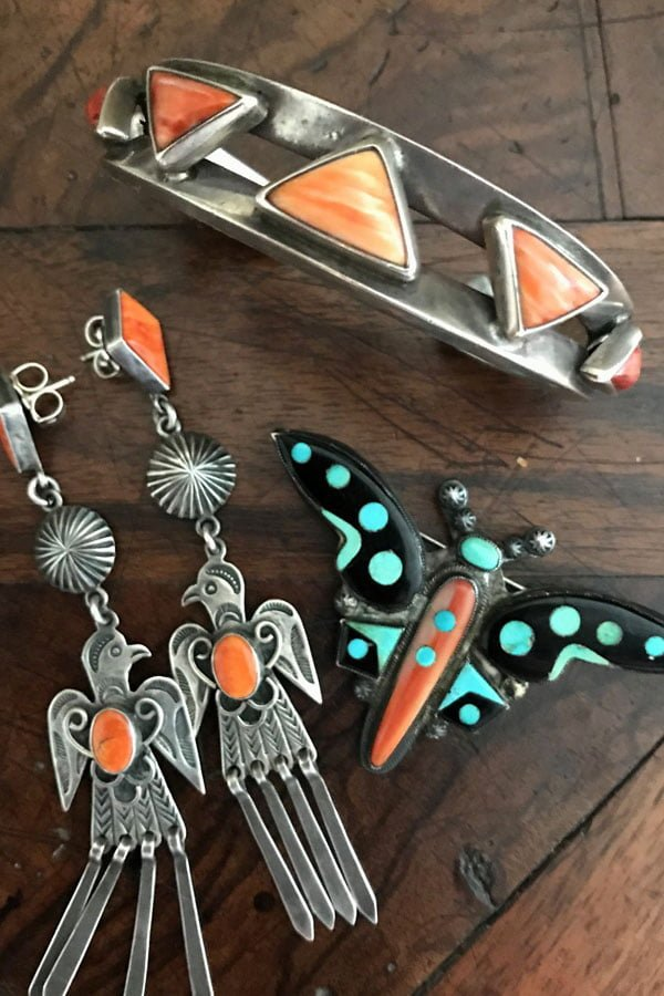 Harry H Begay Thunderbird Earrings