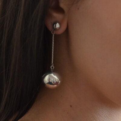 Silver Earrings By Joe Quintana