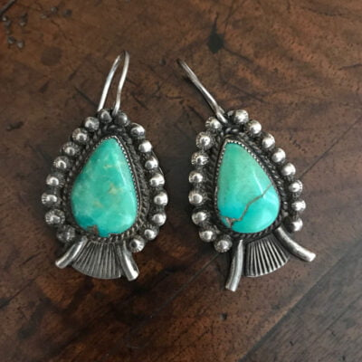 Navajo Turquoise Earrings c.1940's