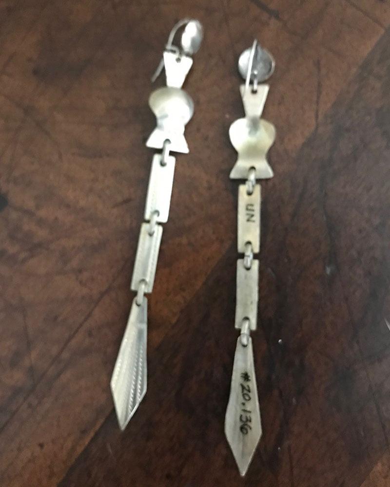 Kiowa Peyote Rattle Earrings c.1940's