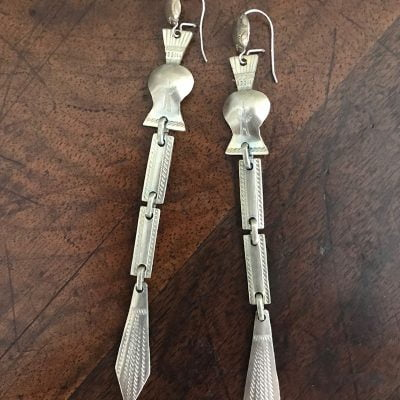Kiowa Peyote Rattle Earrings c.1940's