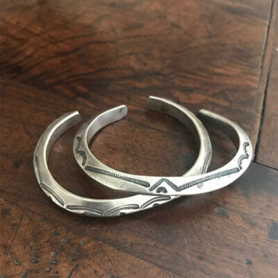Native American jewelry Heavy Navajo Silver Bracelet
