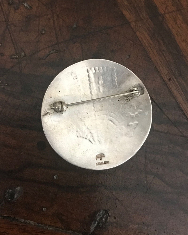 Native American Jewelry Hopi Pin by Lauren Saufkie