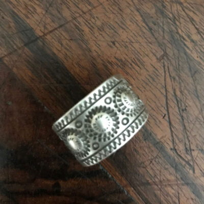 Navajo Silver Ring by Edison Sandy Smith