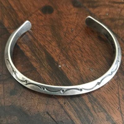 Hallmarked Zuni Tri-Sided Bracelet/cuff