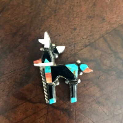 Small Zuni Antelope Pin