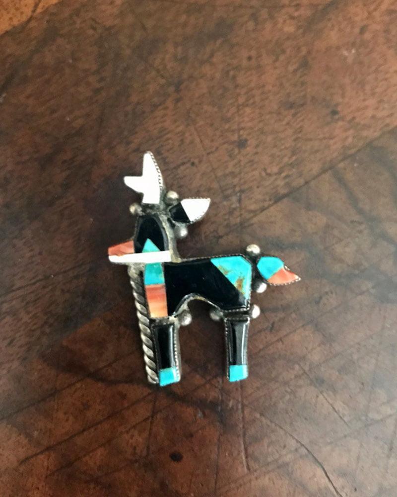 Small Zuni Antelope Pin