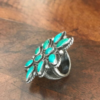 Fox Turquoise Butterfly Ring