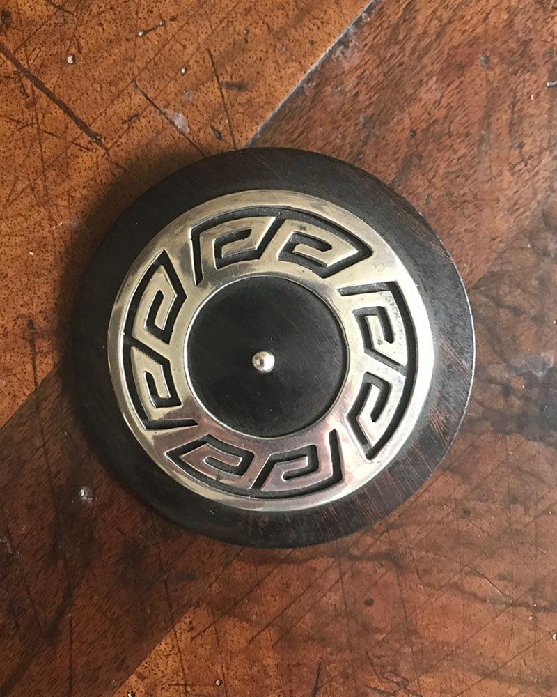 White Hogan - Allen Kee Iron Wood Pin