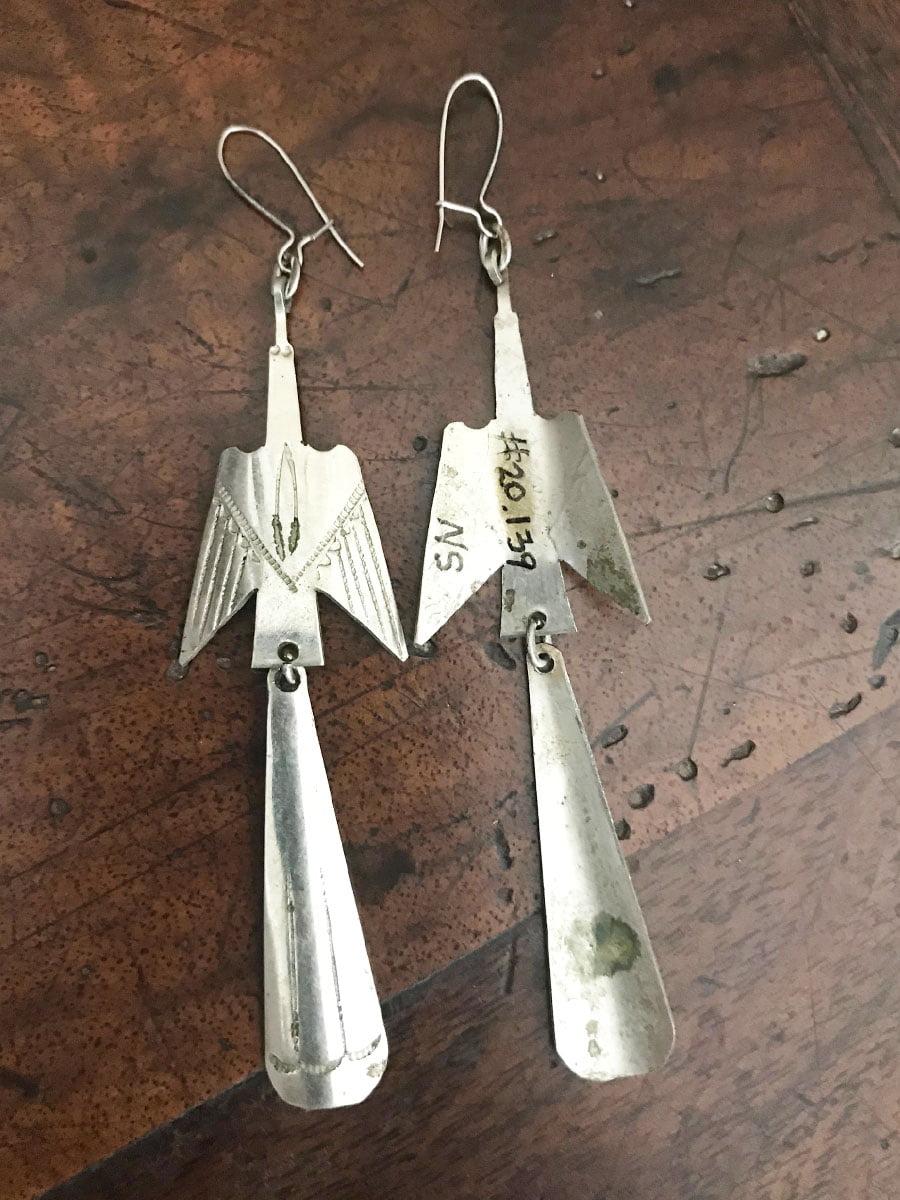 Max Silverhorn Junior Peyote Bird Earrings