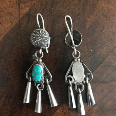 Classic Navajo 1930's Turquoise Earrings