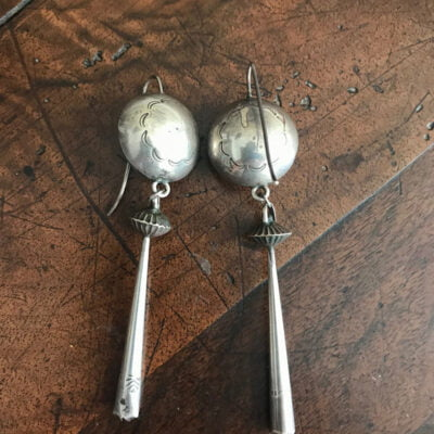 Navajo Crafted Silver Earring c 1930's