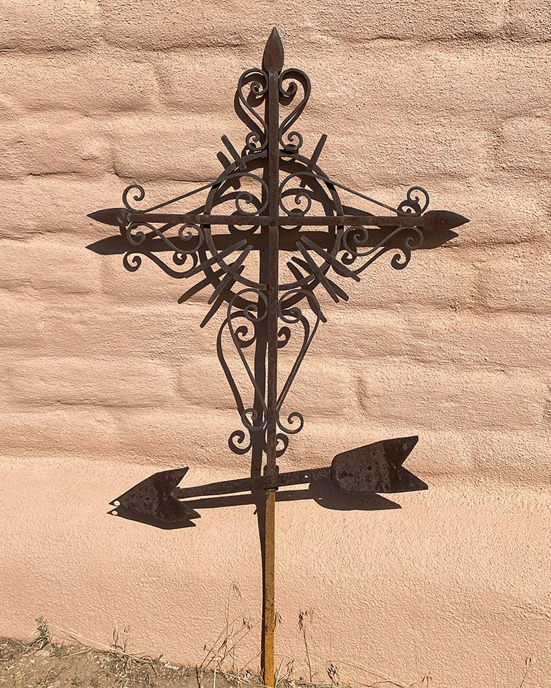 Early Mexican Wrought Iron Church Cross