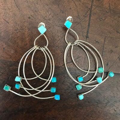 Dainty Zuni Bird Earrings