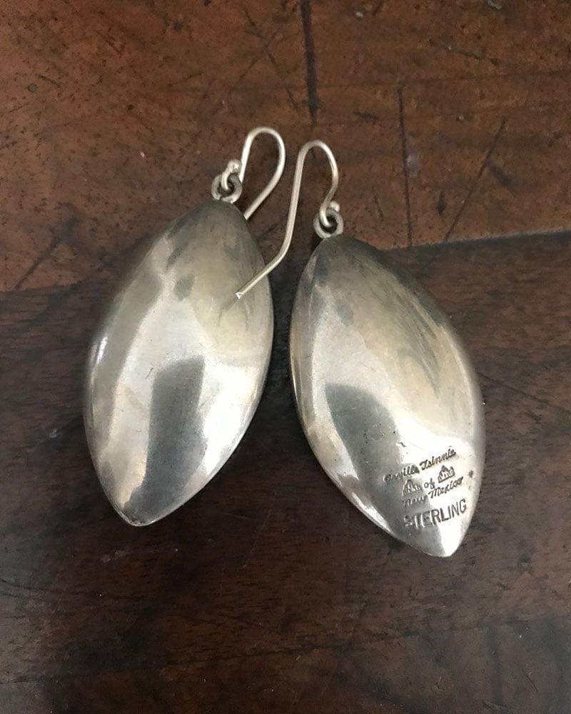 Navajo Orville Tsinnie Oval Earrings c.1980's