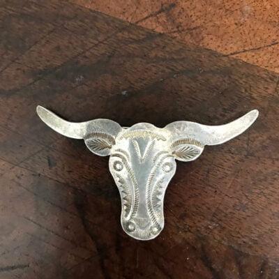 Navajo Silver Long Horn Pin