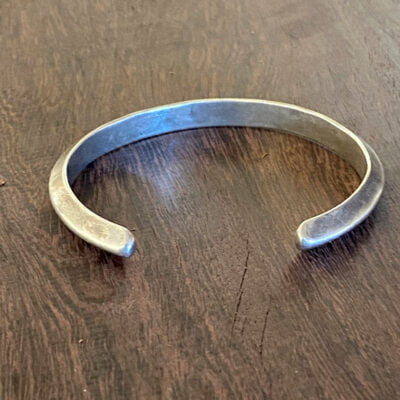 Small Fit Navajo Stamped Silver Bracelet