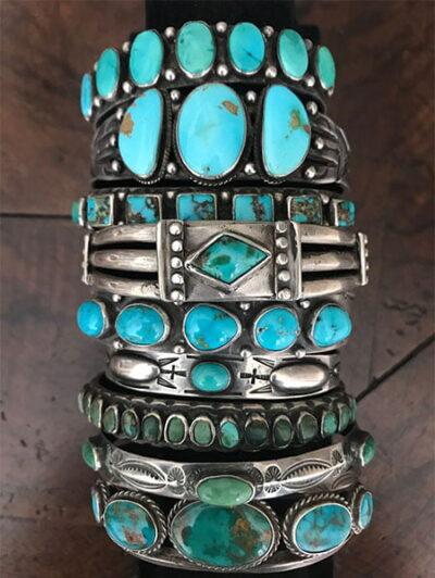 navajo turquoise Row Bracelets